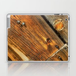 Wood Grain Pattern on Weathered Wooden Boards Laptop & iPad Skin