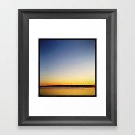'FACING WEST' Framed Art Print
