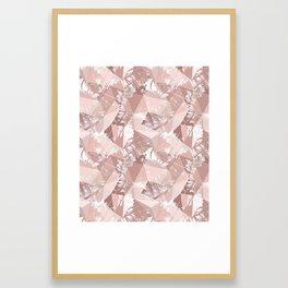 Folded paper under glass. Framed Art Print