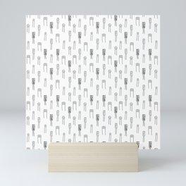 Capacitors - Black on White Mini Art Print
