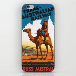 Vintage travel poster - Trans Australian Railway iPhone Skin