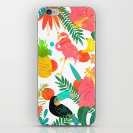 Tropical Vibes Summer Pattern iPhone Skin