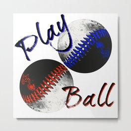 Play Ball Metal Print