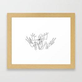 Frog skeleton Framed Art Print