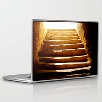 mandie manzano Laptop & iPad Skins featuring Steps to tomb by Brian Raggatt
