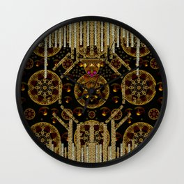 A panda under and  over the stars Wall Clock
