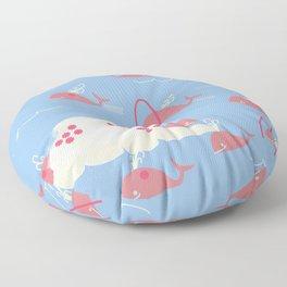 Whale island wave spout Floor Pillow