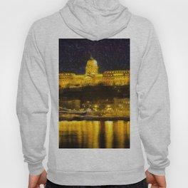 Budapest Chain Bridge And Castle Art Hoody