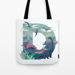 Letter D Illustration by Asia Orlando Tote Bag