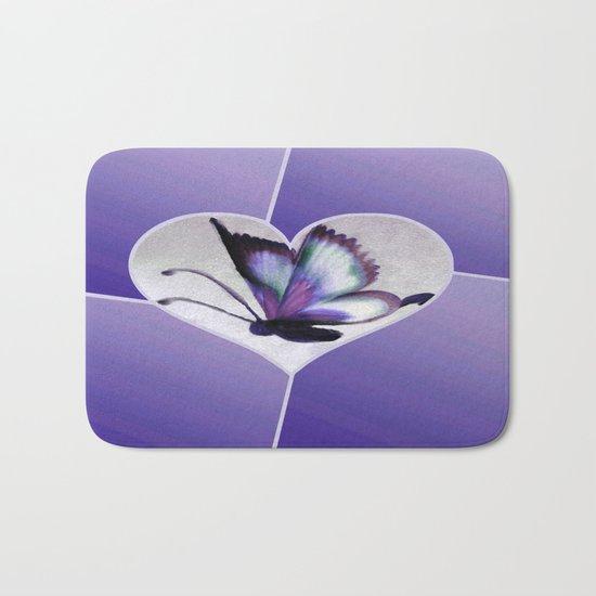 Butterfly Love - Purple Bath Mat
