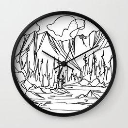 Ice Creek Lake, Valhallas :: Single Line Wall Clock