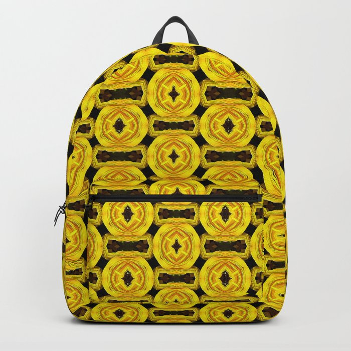 Buttons and Bows - Yellow Backpack