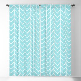 Herringbone Island Paradise Blackout Curtain