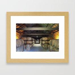 Whiskey Barrels Framed Art Print