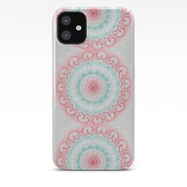 Teal & Coral Glow Medallion iPhone Case