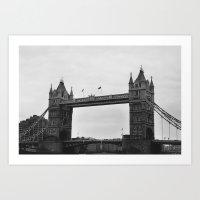 London Bridge Before Rain Art Print