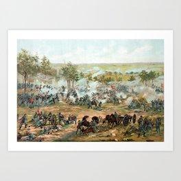 Battle Of Gettysburg -- American Civil War Art Print