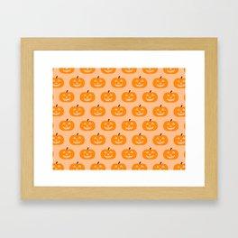 Cute Pumpkins Framed Art Print