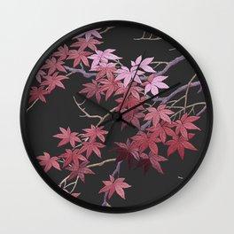 Kimono Coral Wall Clock