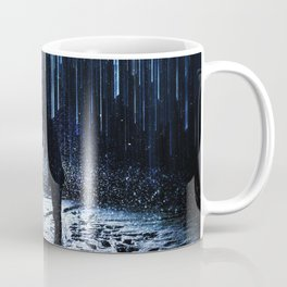 The Kiss in the Snow and Lights Coffee Mug