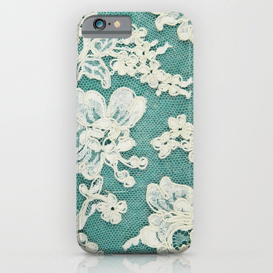 white lace - photo of vintage white lace iPhone & iPod Case