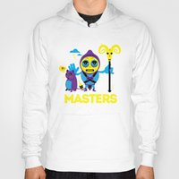 skeletor Hoodies featuring SKELETOR by Maioriz Home