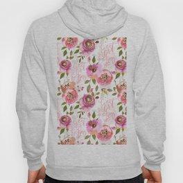 c'est la fucking vie - blush florals Hoody