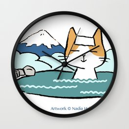 Traveling Kitty Wall Clock