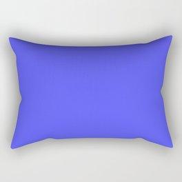 Bright Fluorescent Neon Blue Rectangular Pillow