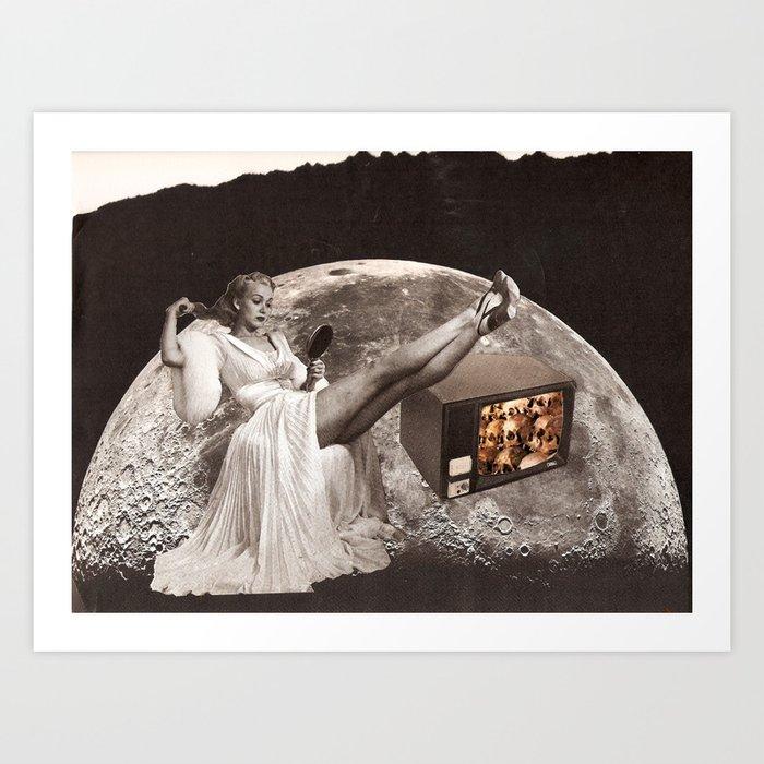 skull tv! Art Print