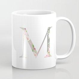M - Floral Monogram Collection Coffee Mug