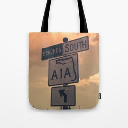 A1A South To The Beaches Tote Bag