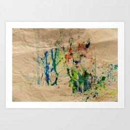 Kamuflasje Art Print