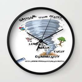 National Storm Center Wall Clock
