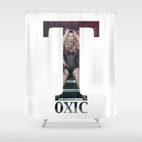 britney spears Shower Curtains featuring Britney Toxic by eriicms