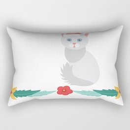 20% OFF ! Christmas Angora Cat Santa Hat Rectangular Pillow