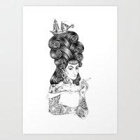 rockabilly Art Prints featuring rockabilly by vasodelirium
