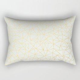 Geo Gold Rectangular Pillow