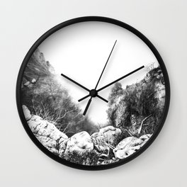 Misty Mountains- Round Wall Clock