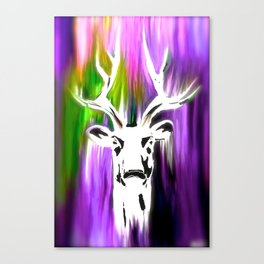 White Deer OIL PAINTING Canvas Print