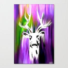 White Deer OIL PAINTING Canvas Print