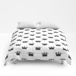 Black and White Wedding Crowns Comforters