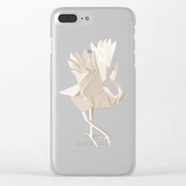 Origami Crane Clear iPhone Case