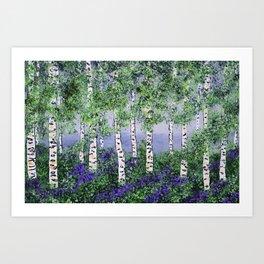 Summer Aspens Art Print