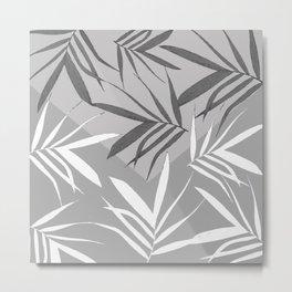 Envelope leaves decor. black. white.grey Metal Print