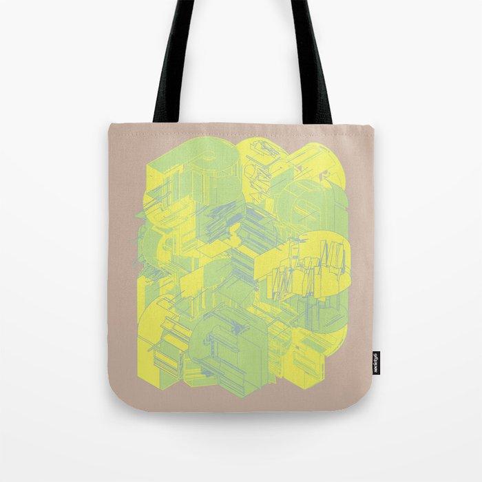 Typographic Wasteland Tote Bag
