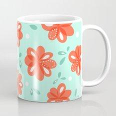 Cheerful Red Flowers Pattern Mug
