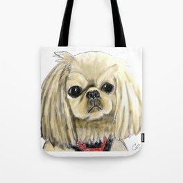 Cartoon dogs Li Li the Pekingese Tote Bag