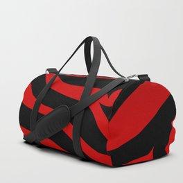 Rare Red Zebra Duffle Bag