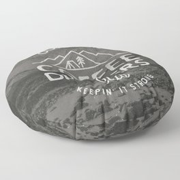 Outdoor Coffee Drinkers Club Floor Pillow
